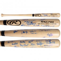 New York Mets Team Signed Bat