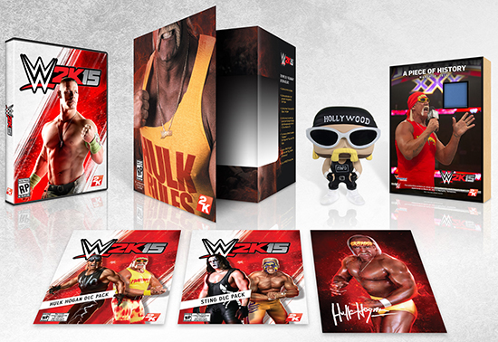 WWE 2K15 Collector's Edition Includes Hulk Hogan Autograph, Memorabilia Cards 1