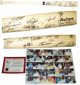White Sox Team Signed Bat