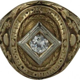 1938 New York Yankees World Series Ring