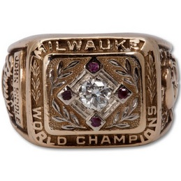 1957 Milwaukee Braves World Series Ring