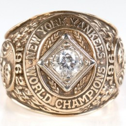 1962 New York Yankees World Series Ring