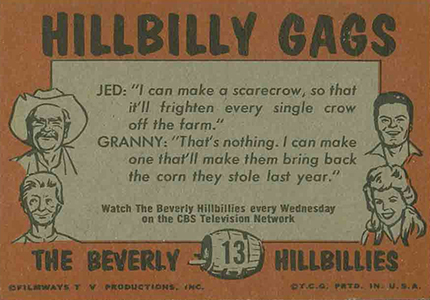 1963 Topps Beverly Hillbillies 13Back