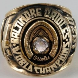 1970 Baltimore Orioles World Series Ring