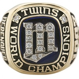1987 Minnesota Twins World Series Ring