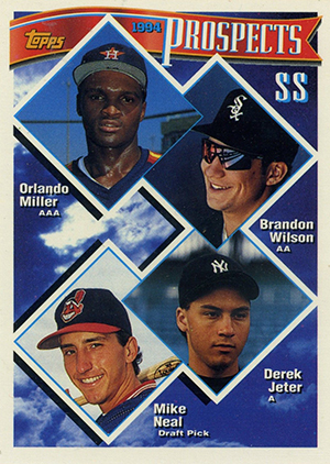 Derek Jeter Topps Cards Through the Years 2