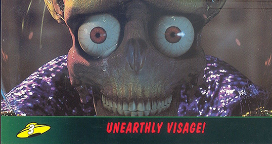 1996 Topps Mars Attacks Widevision Trading Cards 3