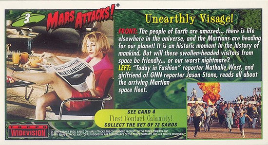 1996 Topps Mars Attacks Widevision Trading Cards 4