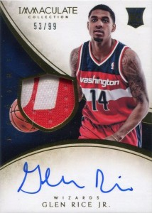 2013-14 Immaculate RPA 103 Glen Rice Jr