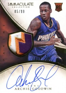 2013-14 Immaculate RPA 109 Archie Goodwin