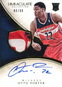 2013-14 Immaculate RPA 110 Otto Porter