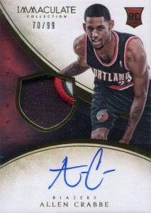 2013-14 Immaculate RPA 117 Allen Crabtree