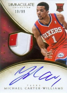 2013-14 Immaculate RPA 118 Michael Carter-Williams