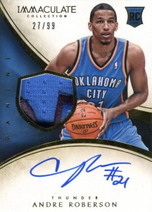 2013-14 Immaculate RPA 127 Andre Roberson