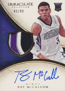 2013-14 Immaculate RPA 130 Ray McCallum