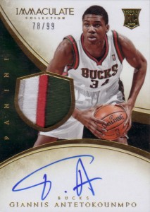 2013-14 Immaculate RPA 131 Giannis Antetokounmpo