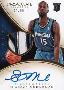 2013-14 Immaculate RPA 132 Shabazz Muhammad