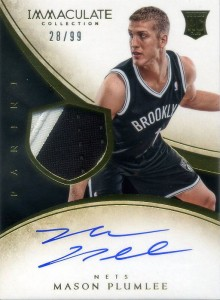 2013-14 Immaculate RPA 135 Mason Plumlee