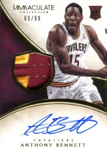 2013-14 Immaculate RPA 137 Anthony Bennett