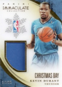 2013-14 Panini Immaculate Collection Basketball Christmas Day Kevin Durant