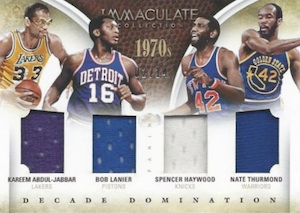 2013-14 Panini Immaculate Collection Basketball Decade Domination Quads