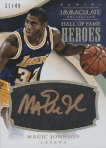 2013-14 Panini Immaculate Collection Basketball Hall of Fame Heroes Magic Johnson