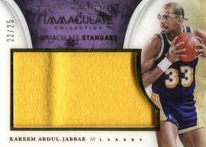 2013-14 Panini Immaculate Collection Basketball Immaculate Standard Kareem Abdul-Jabbar