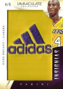 2013-14 Panini Immaculate Collection Basketball Insignias Kobe Bryant