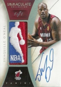 2013-14 Panini Immaculate Collection Basketball Logoman Autograph Shaquille O'Neal