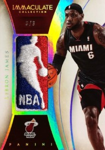 2013-14 Panini Immaculate Collection Basketball Logoman LeBron James