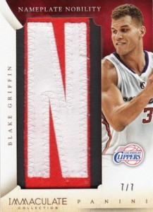 2013-14 Panini Immaculate Collection Basketball Nameplate Nobility Blake Griffin