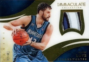 2013-14 Panini Immaculate Collection Basketball Patches Kevin Love