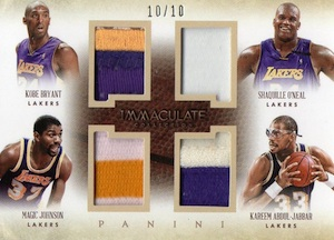 2013-14 Panini Immaculate Collection Basketball Quads