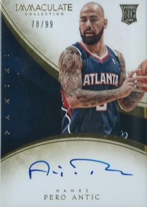 2013-14 Panini Immaculate Collection Basketball Rookie Autographs Pero Antic
