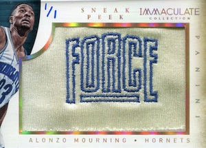 2013-14 Panini Immaculate Collection Basketball Sneak Peek Alonzo Mourning