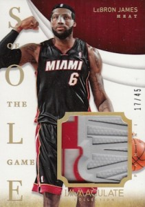 2013-14 Panini Immaculate Collection Basketball Sole of the Game LeBron James