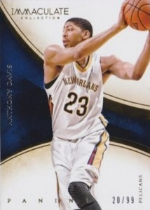 2013-14 Panini Immaculate Collection Basketball base Anthony Davis