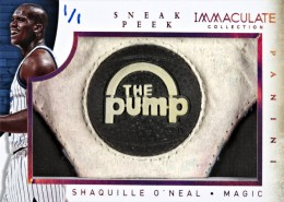 2013-14 Panini Immaculate Sneak Peek Shaq Pump