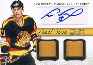 2013-14 Panini National Treasures Hockey Dual Autograph Memorabilia