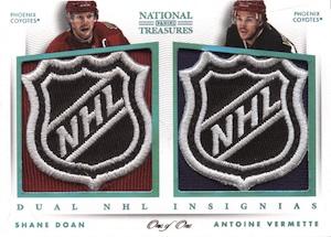 2013-14 Panini National Treasures Hockey Dual NHL Insignias