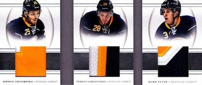 2013-14 Panini National Treasures Hockey Jumbo Triplet Booklet Patch
