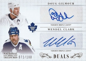 2013-14 Panini National Treasures Hockey NT Duals Autographs