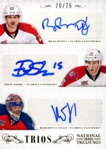 2013-14 Panini National Treasures Hockey NT Trios Autographs