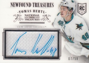 2013-14 Panini National Treasures Hockey Newfound Treasures Autographs Hertl