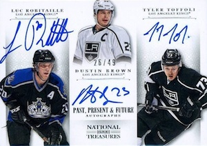 2013-14 Panini National Treasures Hockey Past Present Future Autographs