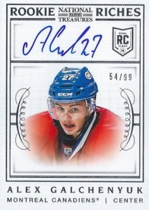 2013-14 Panini National Treasures Hockey Rookie Riches Autographs