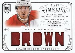 2013-14 Panini National Treasures Hockey Rookie Timeline Jersey