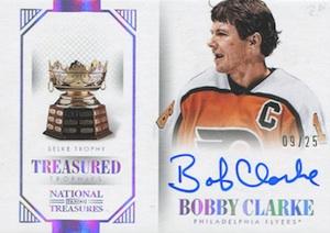 2013-14 Panini National Treasures Hockey Treasured Trophies Autographs Selke