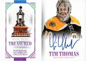 2013-14 Panini National Treasures Hockey Treasured Trophies Autographs Vezina