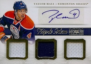 2013-14 Panini National Treasures Hockey Triple Autograph Memorabilia